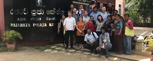 Group photo from Field Course Vulnerability and Risk Assessment Methods (VRAM), Master of Disaster Management at University of Copenhagen